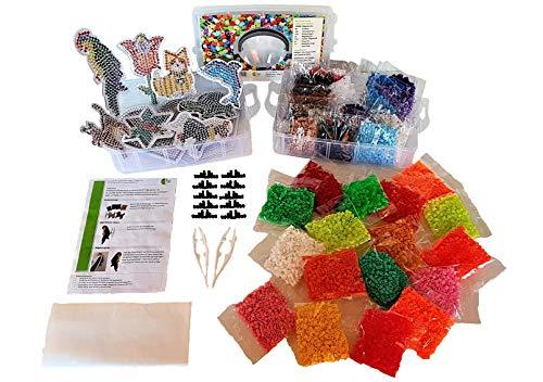 TheWolff Bügelperlen Set XXL, 10000 Bügelperlen, 32 Farben, Bastelset für Kinder, Bügelperlen Set mit...