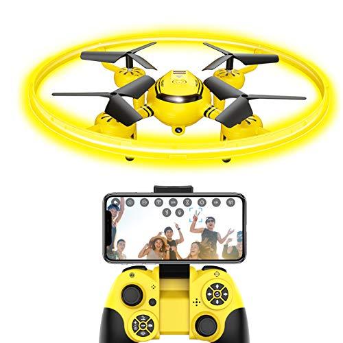FPV Drone Drohne für Kinder mit Kamera Live übertragung und Nachtlicht,RC Quadrocopter mit Höhehalten...