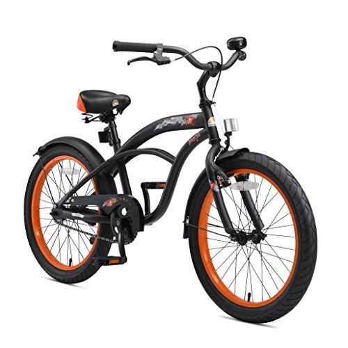 BIKESTAR Premium Sicherheits Kinderfahrrad 20 Zoll für Jungen ab 6-7 Jahre | 20er Kinderrad Cruiser |...