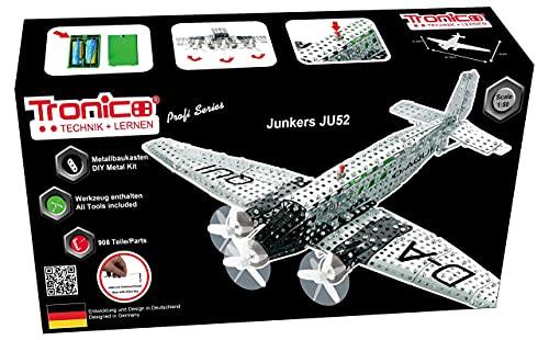 Tronico Metallbaukasten Flugzeug Modell Bausatz Junkers Ju52 Konstruktionsspielzeug Modellbau Bauen mit...