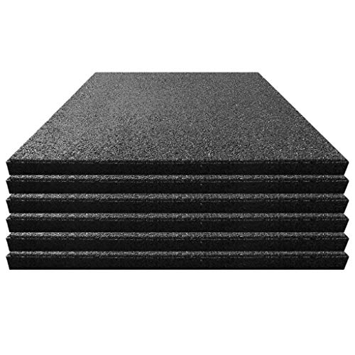 Steckverbinder Qualit/äts Fallschutzmatte 500x500x30mm in Gr/ün aus Gummi-Recyclinggranulat inkl