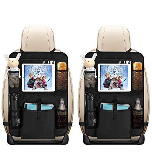 Auto Rückenlehnenschutz, opamoo 2 Stück Auto Rücksitz Organizer für Kinder, Große Taschen und...