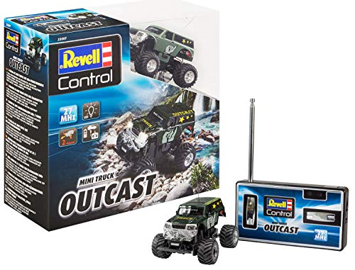 Revell Control 23507 Mini RC Monster Truck Outcast mit 27 MHz-Fernsteuerung inkl. Ladefunktion, mit...