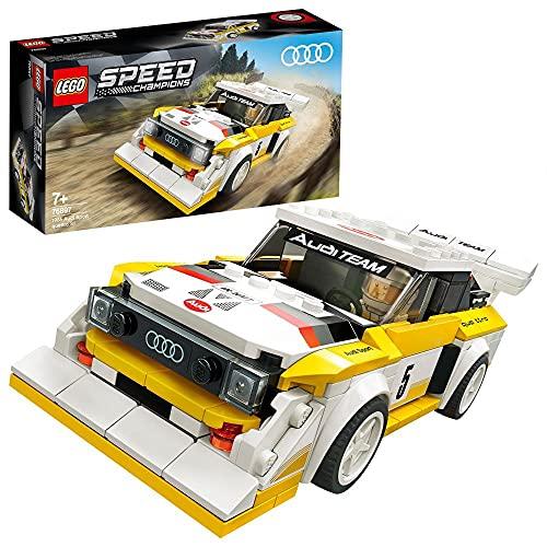 Lego 76897 Speed Champions 1985 Audi Sport Quattro S1 Rennwagenspielzeug, mit Rennfahrer Minifigur,...