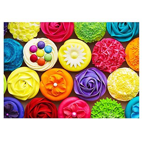 fishwisdom Cupcakes-2 500-Teile-Puzzles für Erwachsene Teenager, Puzzles zum Lernen von Lernspielzeug...