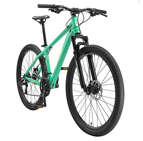 BIKESTAR Hardtail Aluminium Mountainbike Shimano 21 Gang Schaltung, Scheibenbremse 27.5 Zoll Reifen   16...