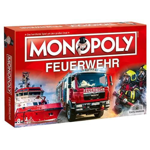Café Viereck ® Monopoly Feuerwehr - das Gesellschaftsspiel für jeden Feuerwehrmann, Familienspiel für...