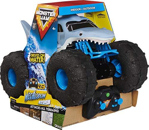 Monster Jam Megalodon Storm, ferngesteuertes Amphibienfahrzeug in Hai-Optik für Land und Wasser,...
