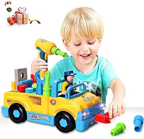 ACTRINIC Baby Spielzeug multifunktionale Konstruktion auseinander nehmen Spielzeug,Werkzeug Lastwagen...