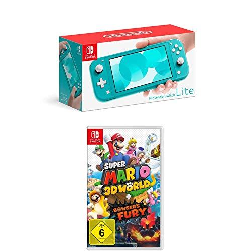 Nintendo Switch Lite, Standard, Türkis-blau + Super Mario 3D World - Bowser's Fury