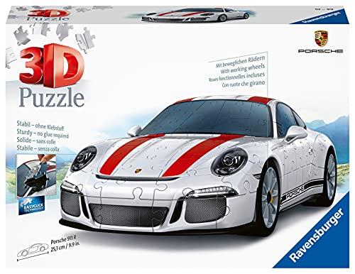 Ravensburger 3D Puzzle 12528 - Porsche 911 R - 3D Puzzle für Kinder und Erwachsene mit 108 Teilen,...
