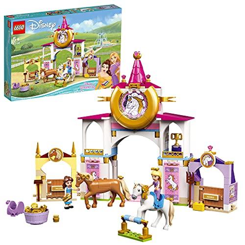 LEGO 43195 Disney Princess Belles und Rapunzels königliche Ställe, Bauspielzeug für Kinder ab 5 Jahren...