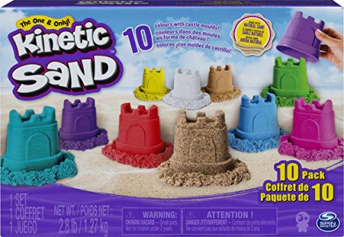 Kinetic Sand Burgenförmchen mit Sand 10er-Set für kreatives Indoor-Sandspiel
