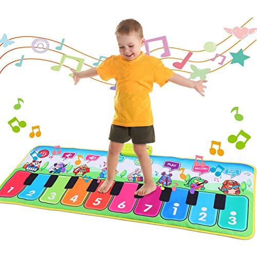 Fascol Piano Matte, Musikmatte für Kinder ab 1-5 Jahre, Klaviermatte, Tanzmatte Kinder mit 8...