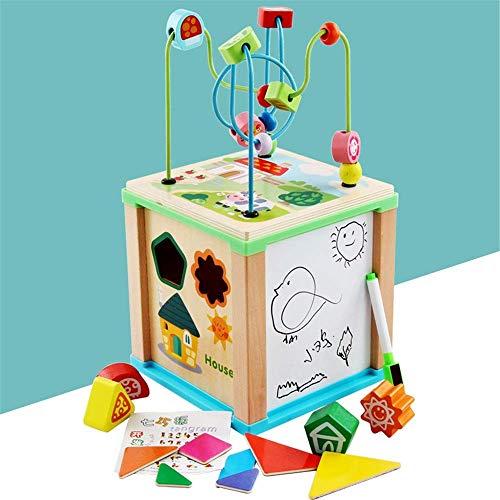Dirgee Brain Game Activity Cube Education Holzspiel Würfel Kurzer Perlen Maze Lernen Baby Pädagogisches...