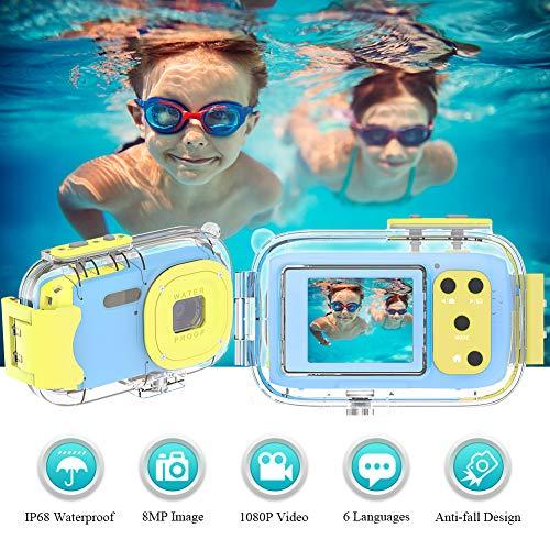 Kinderkamera Fotoapparat Kinder Wiederaufladbare 1080P HD Kinder Kamera 1,77 Farbdisplay Digitalkamera...