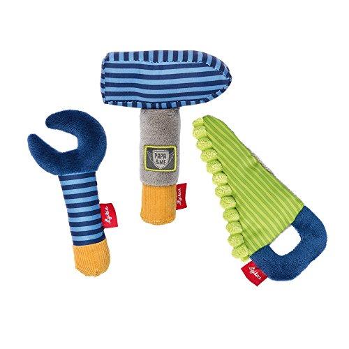 sigikid, Jungen, Greifling Werkzeug Set, Papa und Me, Blau/Grün, 41676