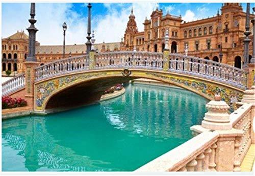 DIY Puzzle Für Erwachsene Kid Friend Sevilla Sevilla Plaza De Espana Brücke Andalusien Spanien Platz...