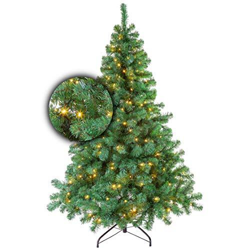 Excellent Trees Künstlicher Weihnachtsbaum Tannenbaum Christbaum Grün LED Stavanger Green 180 cm mit...