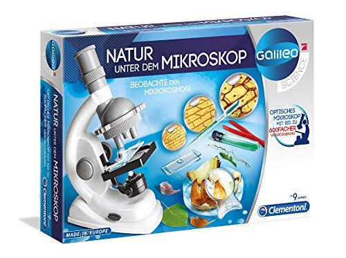 Clementoni 69804 Galileo Science – Natur unter dem Mikroskop, spannendes Labor für kleine Forscher,...