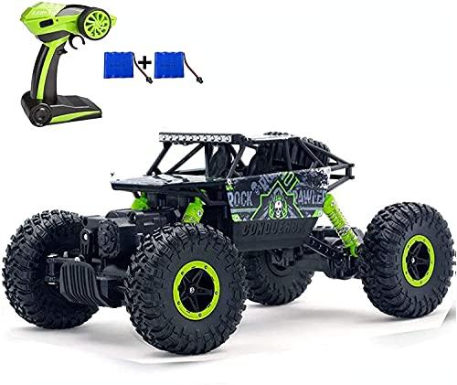 SZJJX RC Auto Fernbedienung Racing 4WD Spielzeug für Kinder 2,4 GHz Offroad Rock Crawler 1:18 Buggy...