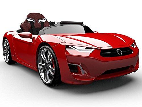HENES BROON F850 Silky Kinder Elektroauto rot mit Tablet PC und Lithium Ionen Akku