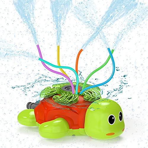 Kiztoys Wasserspielzeug Kinder Sprinkler Kinder,Sommer Wassersprinkler Spielzeug im Schildkröt Design...