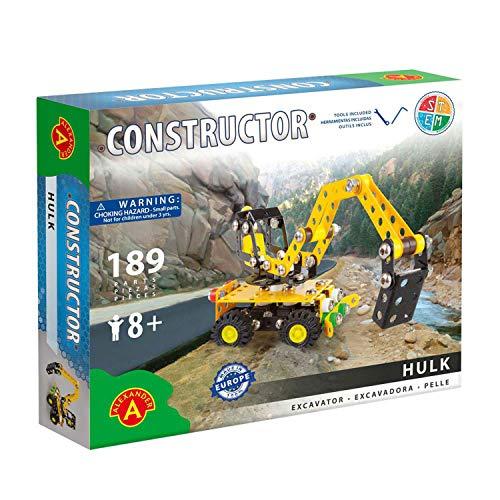 A ALEXANDER 1643 Constructor Hulk Bagger Metall Bausatz, 189 Teile Metallbaukasten, Metallbausatz mit...