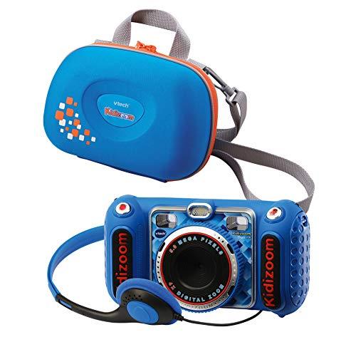 Vtech 80-520094 80-520094-KidiZoom Duo DX inkl. Tragetasche blau Kinderkamera