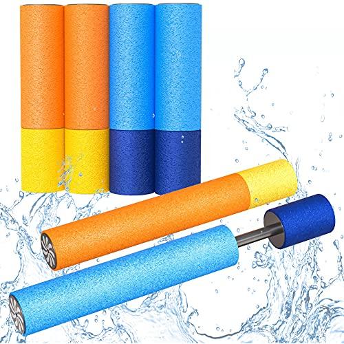 LISOPO 6er Set Wasserpistole Wasserspritze Wasserspritze Schaumstoff Spritzpistole 33cm und 15cm