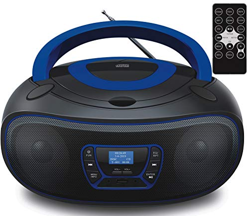DAB+ Tragbarer CD-Player | Boombox | CD/CD-R | USB | FM Radio | AUX-In | Kopfhöreranschluss | CD Player...