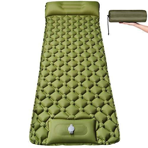 Isomatte Camping Selbstaufblasbare mit Fußpresse Pumpe - Ultraleichte Aufblasbare Schlafmatte...