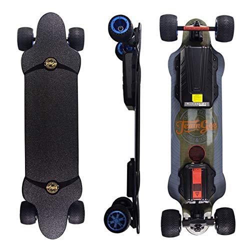 Teamgee H20T Elektro Skateboard 96.5cm mit Drahtloser Bluetooth Fernsteuerung,Elektrisch Longboard mit...