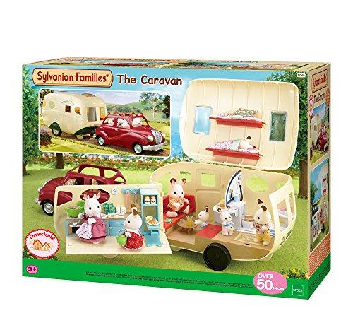 Sylvanian Families 5489 Wohnwagen - Puppenhaus Auto Spielset