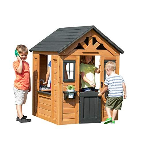 Backyard Discovery Spielhaus Sweetwater aus Holz | Outdoor Kinderspielhaus für den Garten inklusive...