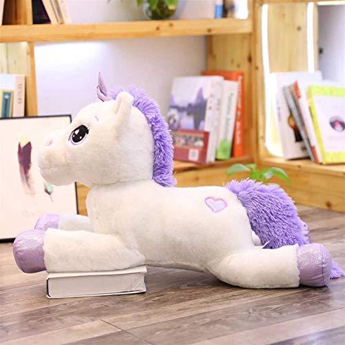 Wxizhu Weiches Spielzeug Riesiges Plüschspielzeug Nettes Rosa Weißes Pferd Weiches Plüschtier Tier Big...