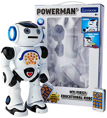 Powerman ROB50EN Spielzeugrobot, mit Fernbedienung, pädagogischer Roboter, Tanz, singt, Geschichten,...