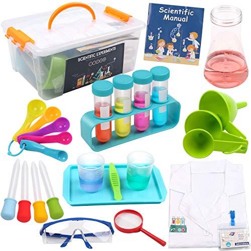 DigHealth Experimentierkasten mit Laborkittel für Kinder, Experimentierset Spielzeug mit...