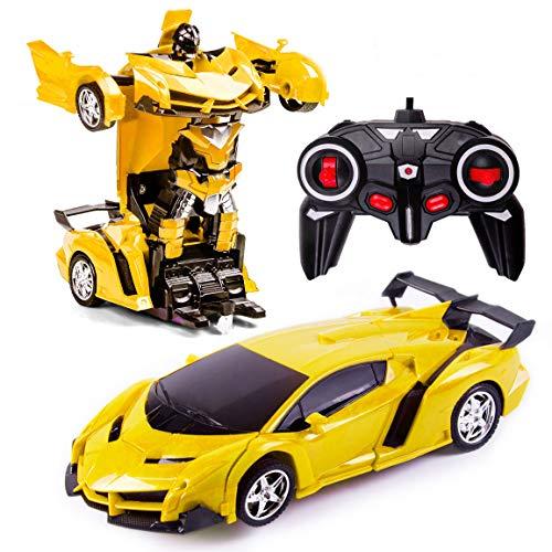 Transformers Toys 2 in 1 Fernbedienung Transformator Auto RC Auto für Kinder Deformation Roboter Auto...