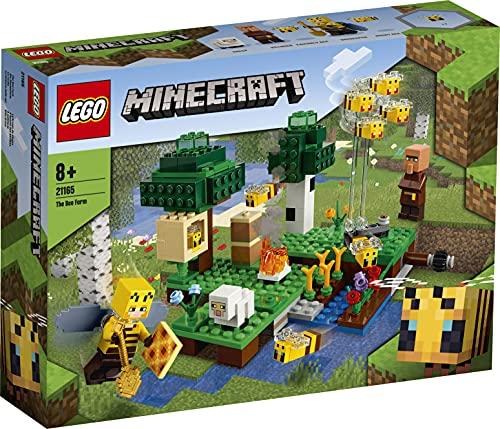 LEGO 21165 Minecraft Die Bienenfarm, Bauset mit Bienenzüchterin und Schaffigur, Spielzeuge für Jungen...