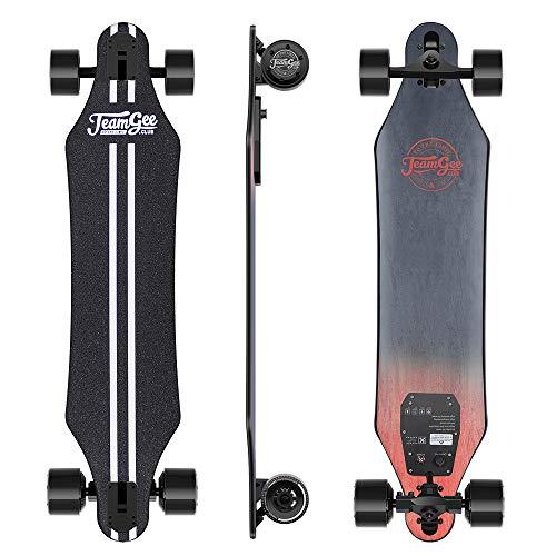 Teamgee H5 - Elektro Longboard Skateboard mit Fernbedienung, Ultra Dünn, Integrierte Akku Dual Motor,...