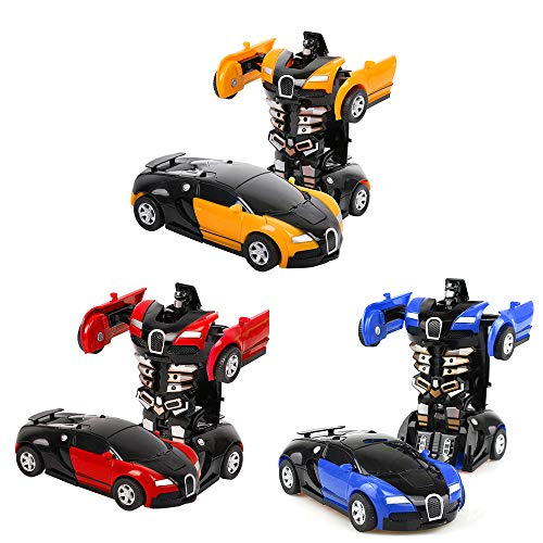 3 Stück Transformator Roboter AutoTransformers Robot verwandelbar, Wand Climber Auto mit Led, 360°...