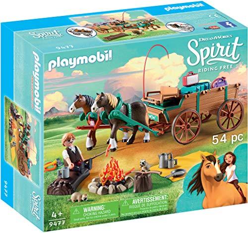 PLAYMOBIL DreamWorks Spirit 9477 Vater Jim mit Kutsche, Ab 4 Jahren