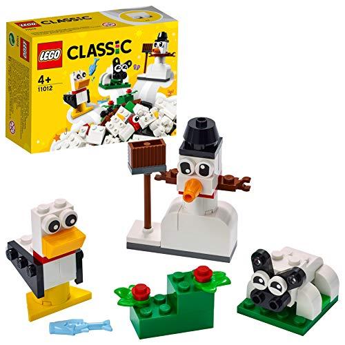 LEGO 11012 Classic Kreativ-Bauset mit weißen Bausteinen, Bauset für Kinder, Spielzeug ab 4 Jahren mit...