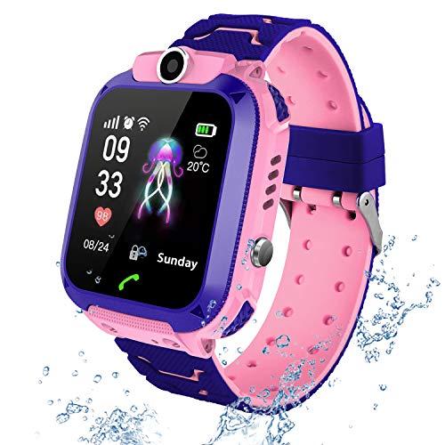 PTHTECHUS Wasserdichtes Kinder Smartwatch Telefon - Touchscreen Kinder Smartwatch, Anruf Voice Chat SOS...