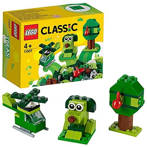 Lego 11007 Classic Grünes Kreativ-Set, Starter-Set, Spielzeug für Vorschulkinder ab 4 Jahren