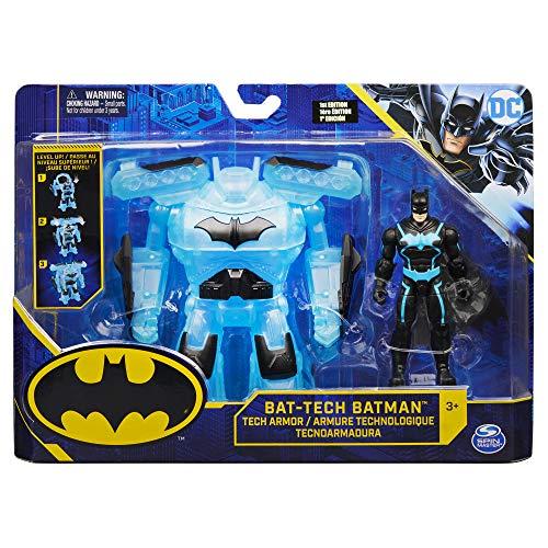 Bizak 61927829 Batman Figur 10 cm mit Bat Tech Rüstung, 10 Centimeters