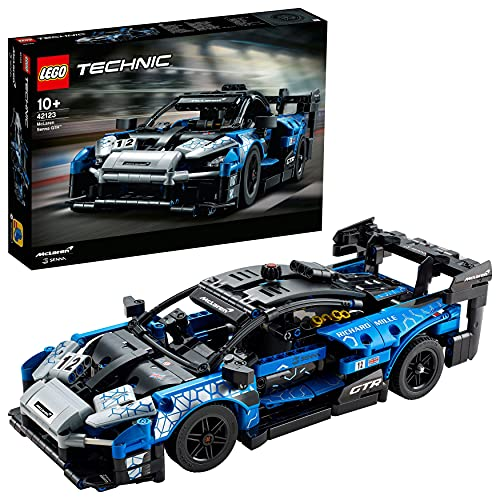LEGO 42123 Technic McLaren Senna GTR Rennauto, Fahrzeug Bausatz, Modellauto, Geschenk für Kinder ab 10...