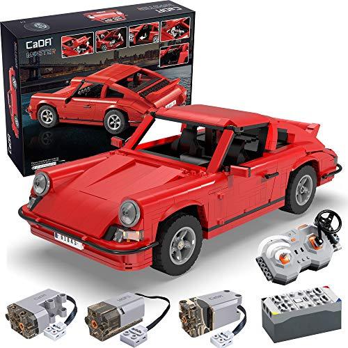 CADA Master C61045W, 1429PCS Retro Technik Sportwagen RS mit Fernbedienung, kleines baustein spielzeugset