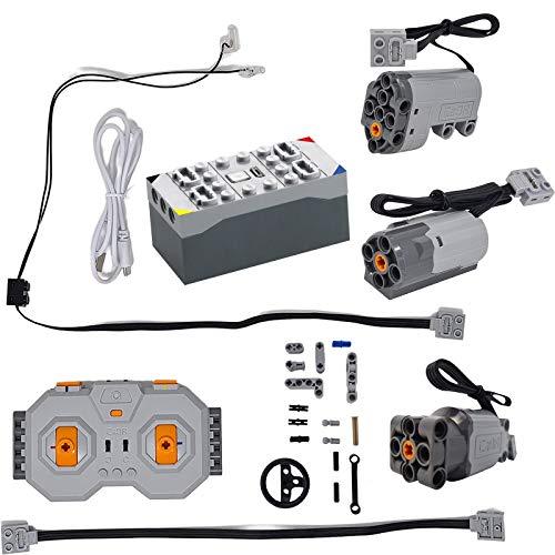 CADA Technik Technologie-Baustein-Auto-Funktionskit, einschließlich 3 Motoren, LED, Batteriekasten und...